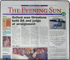 County s hometown daily quot the evening sun ships thousands of copies