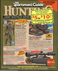 guide catalog sportsman outdoor mail magazine inserts 1970 hunting catalogs order sportsmans clothing guns outdoorsman echo gary vfw gear olen