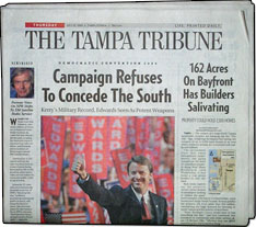 Tribune offers rop and insert advertising opportunities in its daily
